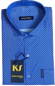 Dark Blue Printed Half Sleeves Shirt