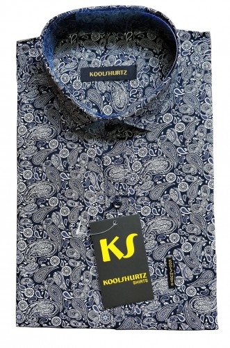 Formal Indigo Paisley Shirt
